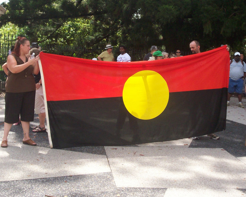 Aboriginal Flag - Invasion Day Rally and March 2007