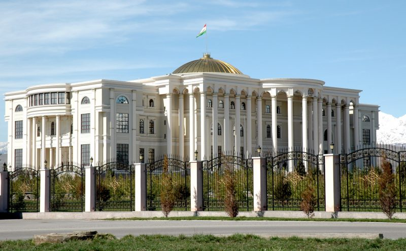 Presidential palace in Dushanbe.