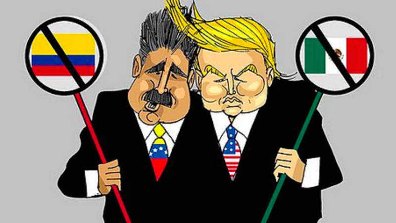 Image by Venezuelan cartoonist Eduardo Sanabria. Used with permission.