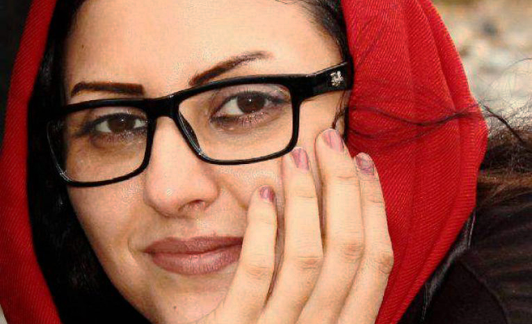 A photo of Golrokh Irajee, the wife of Arash Sadeghe