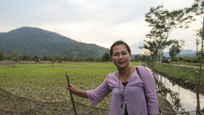 Hamisah, the first female village leader in the region of western Borneo, rallied her community to end illegal logging there. Credit: Carolyn Beeler