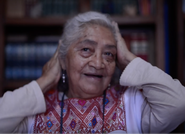 "Osbelia Quiroz. Screenshot of the documentary ""Batalla de las Cacerolas"" (Battle of the Saucepans)"
