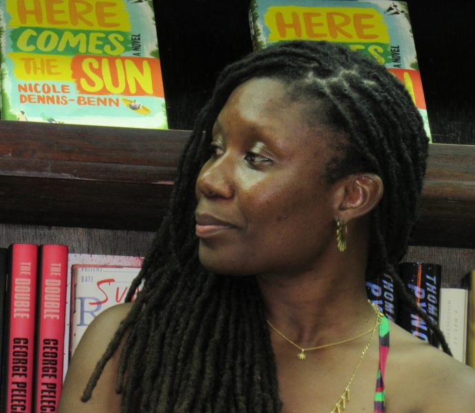 Author Nicole Dennis-Benn at her book party at Jamaican bookstore 'Bookophilia' in Kingston, January 2017. Photo by Emma Lewis, used with permission.