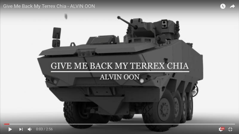 Screen capture from Alvin Oon's video.