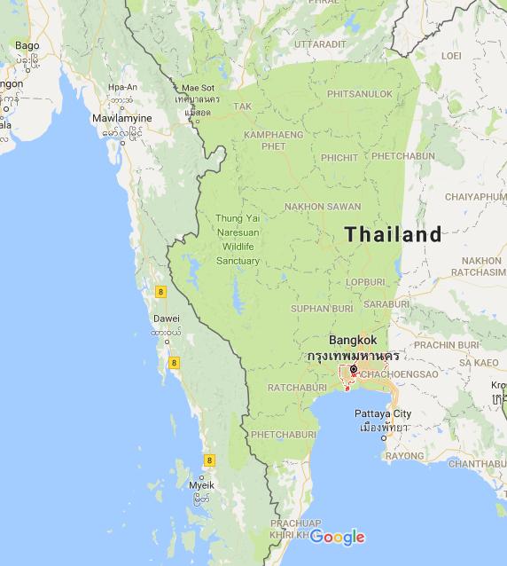 El da en que bangkok y otras provincias de tailandia se tornaron muchas partes de tailandia se convirtieron en un gran parque verde en google map captura de pantalla de google map hecha por el autor gumiabroncs Gallery