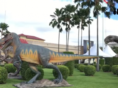 Thai Junta Didn't See the Irony of Installing Dinosaurs in Front of the Government House
