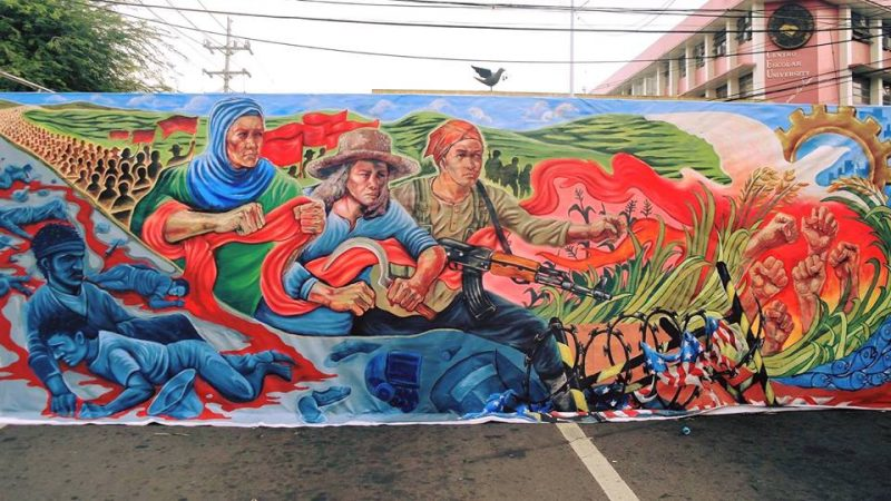 A mural depicting the struggle of Filipino farmers for land and justice. Photo from the Facebook page of Carl Philip Ong Leyson