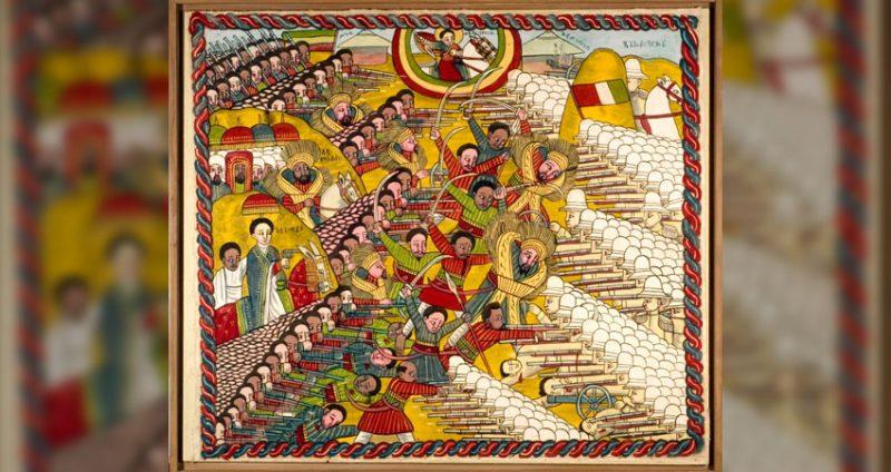 Une peinture représentant la bataille d'Adwa. Image: Musée National des Cultures du Monde. CC 3.0