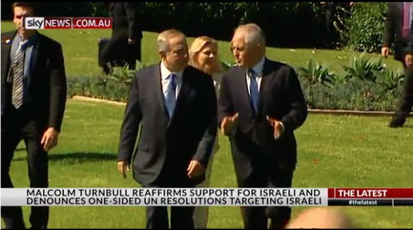 Netanyahu and Turnbull meet in Sydney