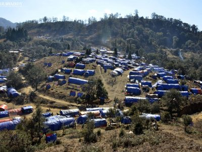 Fleeing the Shells of War, Kachin Civilians Struggle Against Freezing Cold in North Myanmar