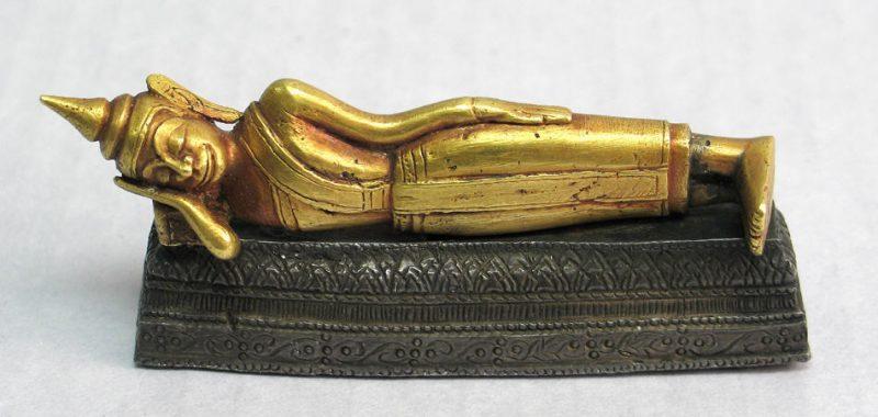 Паринирвана Будды, золото, лак и серебро, 18й век. Таиланд. CCO 1.0