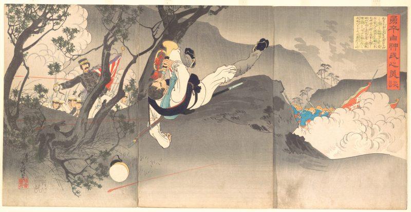 """""""Une scène de guerre sino-japonaise, L'Acte splendide du brave soldat Shirakami."""" Metropolitan Museum of Art, don de Lincoln Kirstein, 1959."""