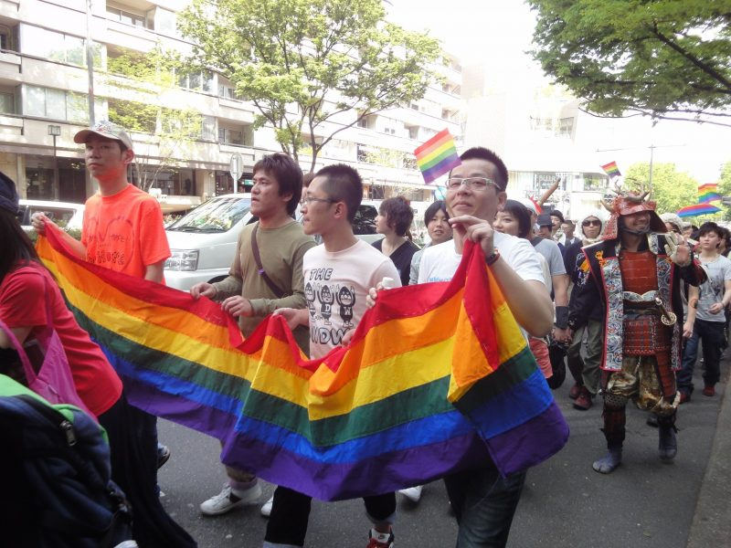 Rainbow Pride 2012 Tokyo. Photo de l'utilisateur Flickr Lauren Anderson. Licence: Attribution-ShareAlike 2.0 Generic (CC BY-SA 2.0).