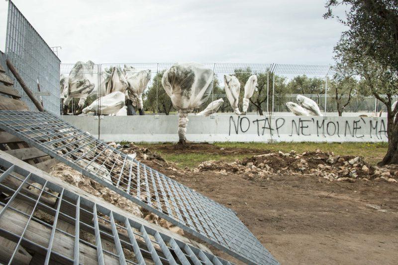 Les résidents locaux ont construit des barricades pour bloquer les travaux du gazoduc. Photo: Alessandra Tommasi