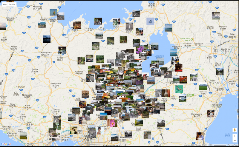 Map of Jeffrey Friedl's Blog Photos