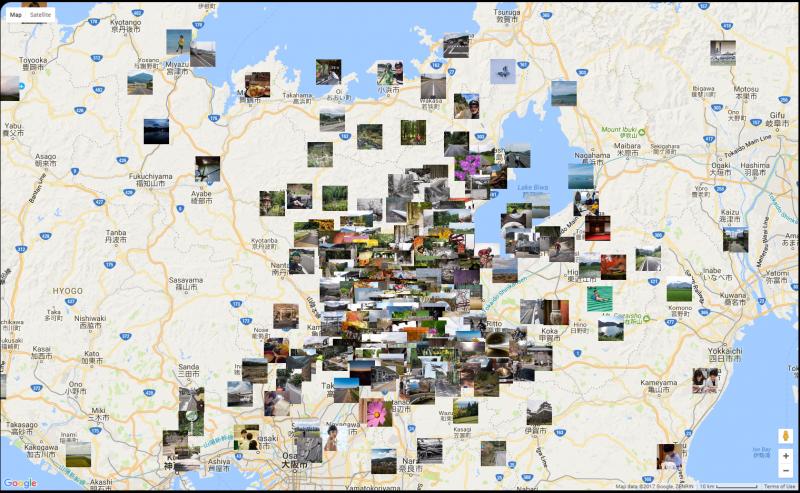 Map of Jeffrey Friedl´s blog photos