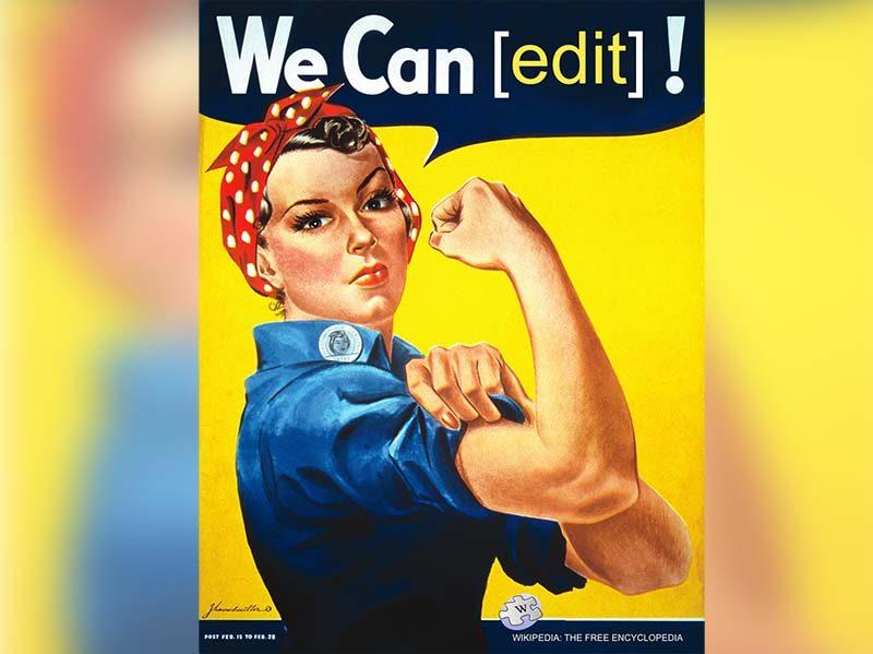 We Can edit! [Ni Povas redakti!]: parodio de la fama afiŝo