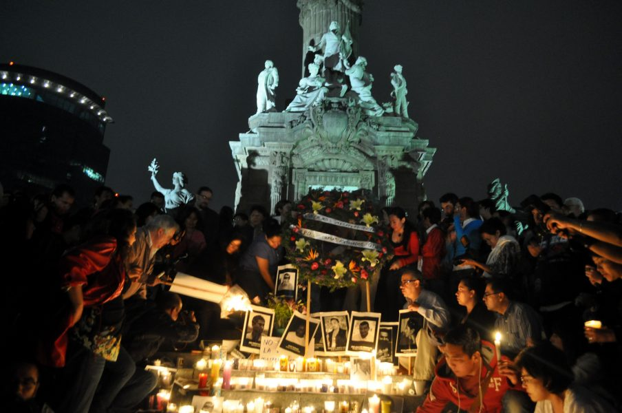 Altar to honor murdered journalists. Photo by Article 19. Used under CC BY-NC 2.0 license.