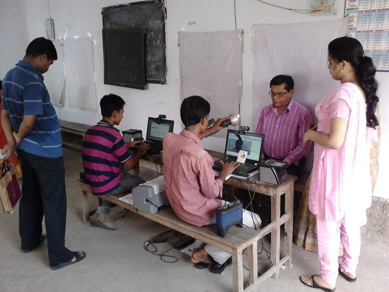 Центр сбора биометрических данных в Индии. Автор: Бишваруп Гангули. Фото опубликовано через Wikimedia Commons (CC BY 3.0) Атрибуция — С сохранением условий