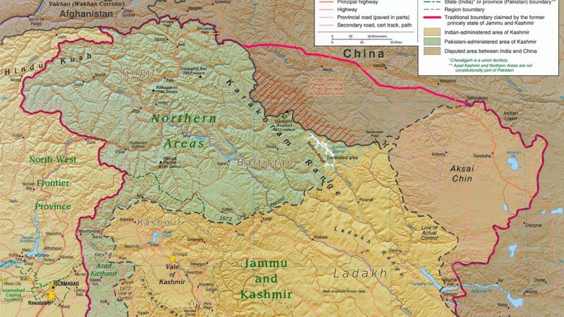 Kashmir region. Image via Wikimedia Commons. From Public Domain.