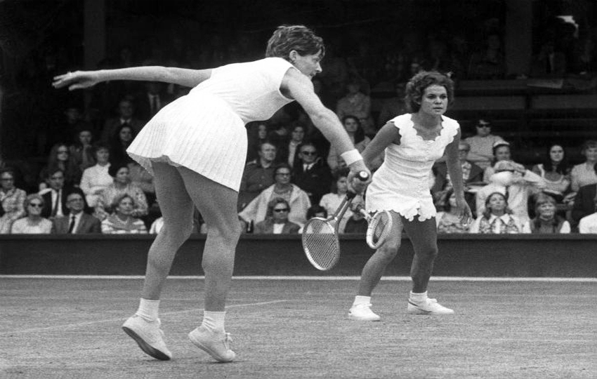 Margaret Court doubles Wimbledon 1971
