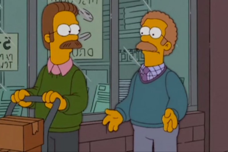 O canadense Ned Flanders. captura de tela do YouTube.