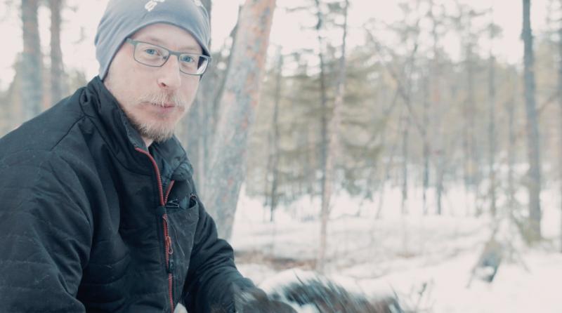 Jonas Vannar, reindeer herder. Photo credit: Mose Agestam