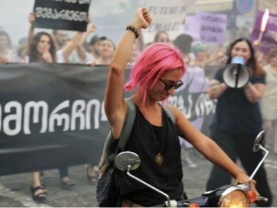 Georgian Women March Against Misogyny and Racism