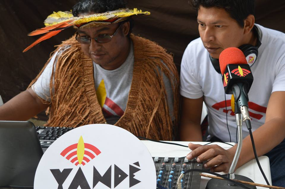 Rádio Yandê producers in Paraty, Rio de Janeiro. Photo: Official Rádio Yandê Facebook page, published with permission.