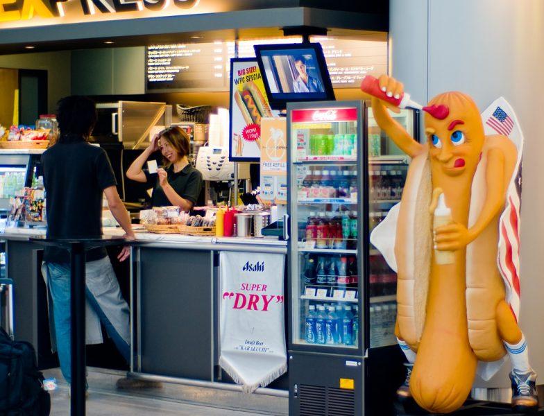 Narita hot dog dude