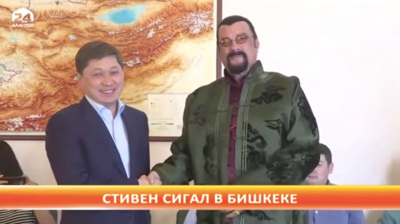 Steven Seagal Rediscovers Celebrity in Central Asia, and ...