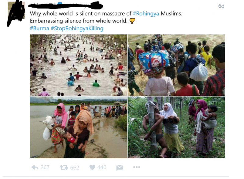 Screenshot-61-800x587 Violence in Northwest Myanmar Sparks an Information War Online with Anti-Rohingya Hate Speech and Fake Photos