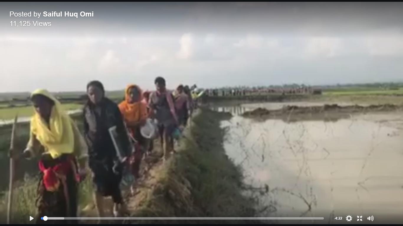 Scenes From the Bangladesh-Myanmar Border, Where Rohingya Refugees