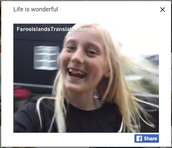 life is wonderful in faroese