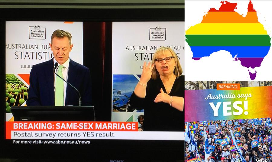 """Австралия голосует """"ЗА"""" однополые браки"""