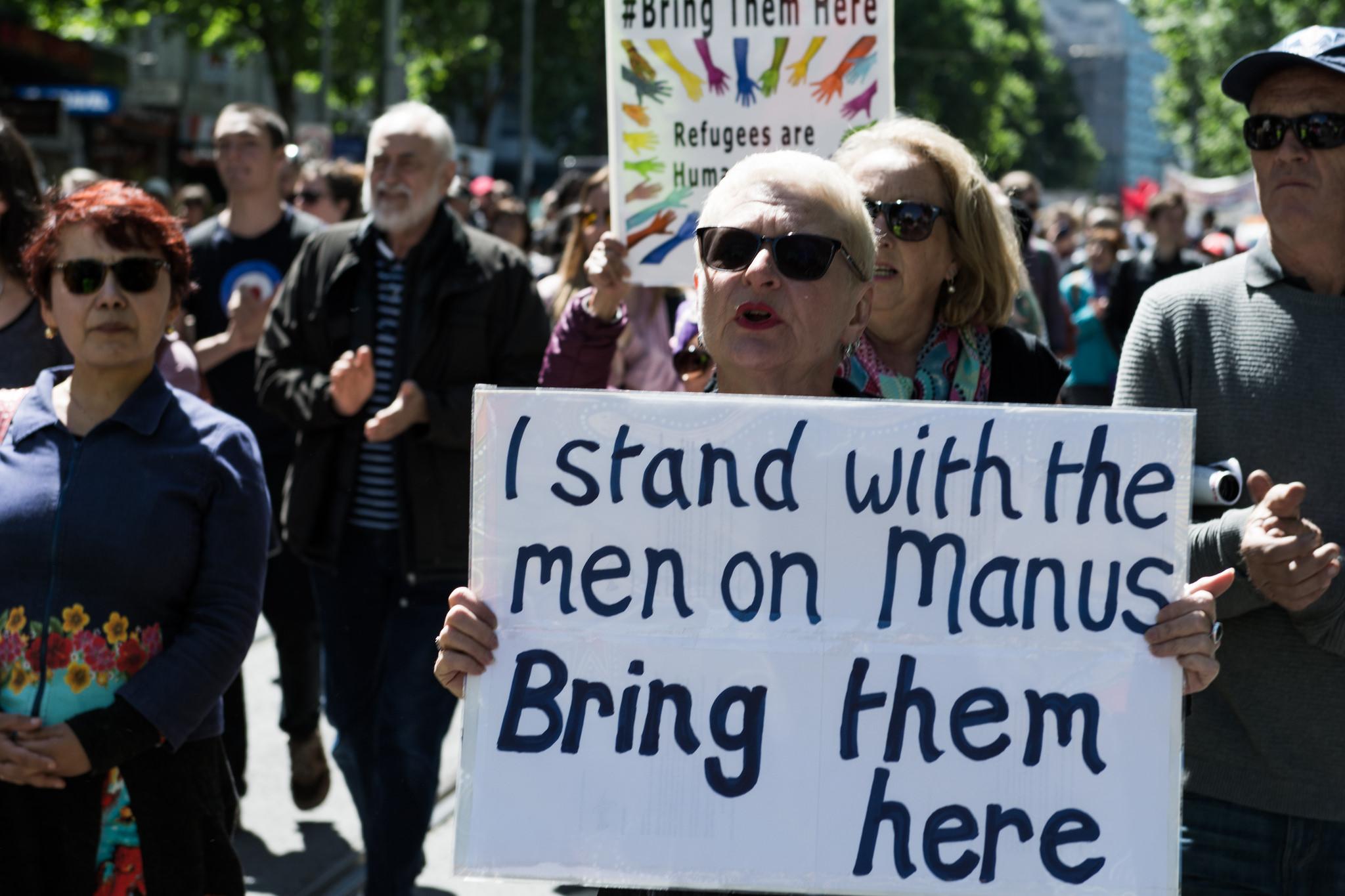 Protesta por los refugiados de Manus