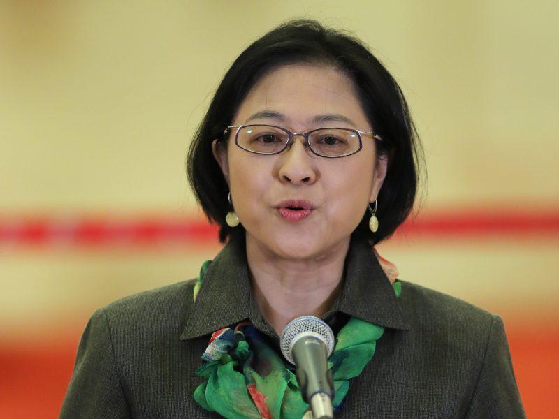 Делегат 19 Съезда Коммунистической Партии Китая, уроженка Тайваня Лу Лиань. Фото с информационного агентства Синьхуа.