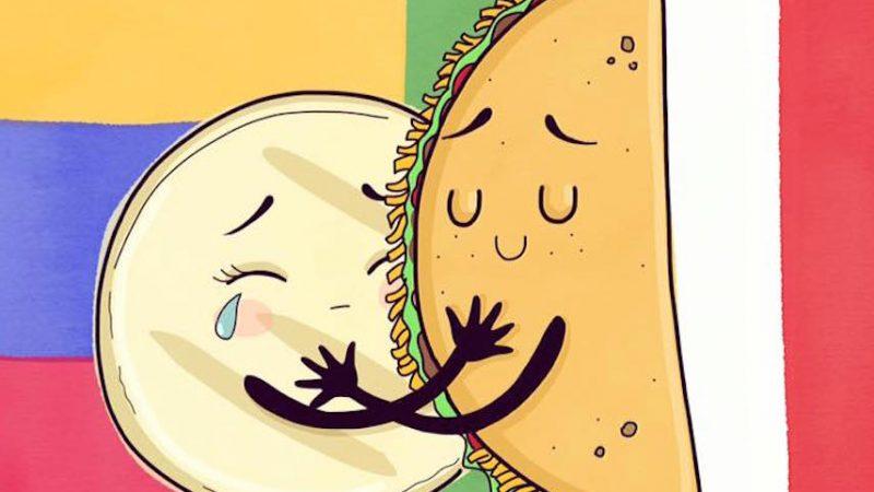 Détail de l'illustration dessinée par l'artiste connu sous le nom 'Azúcar y Sal'. Image largement partagée sur les médias sociaux. Tiré de son profil Facebook public.