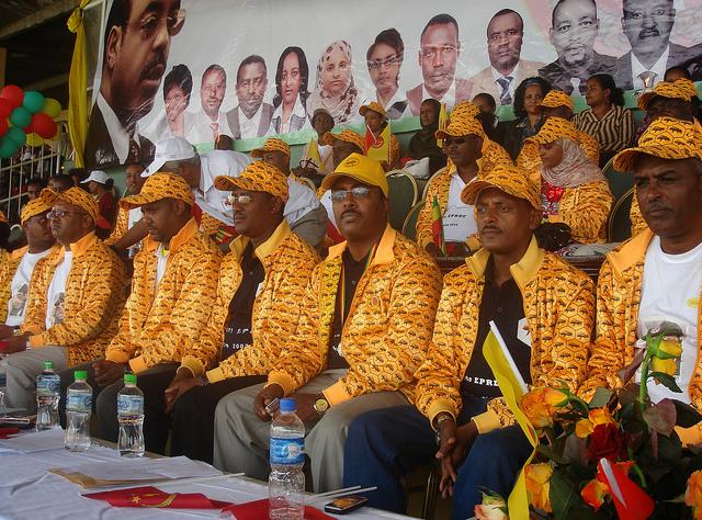 Un rassemblement de l'EPRDF à Addis Abeba en 2010. Photo d'Uduak Amimo / BBC World Service via Flickr (CC BY-NC 2.0)