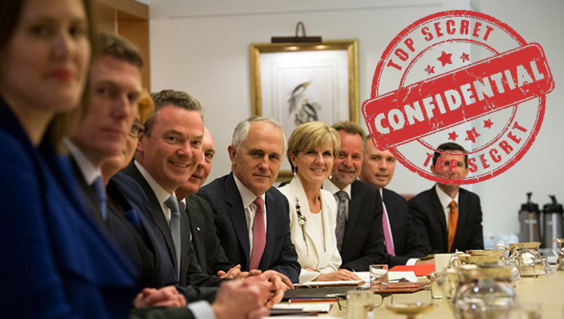 The Australian Cabinet in session