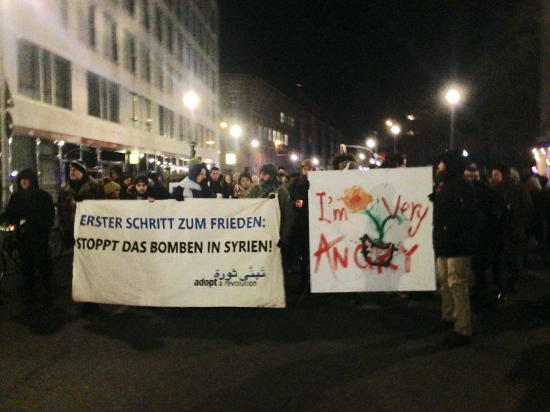 صورة من المظاهرة، التقطها الكاتب.