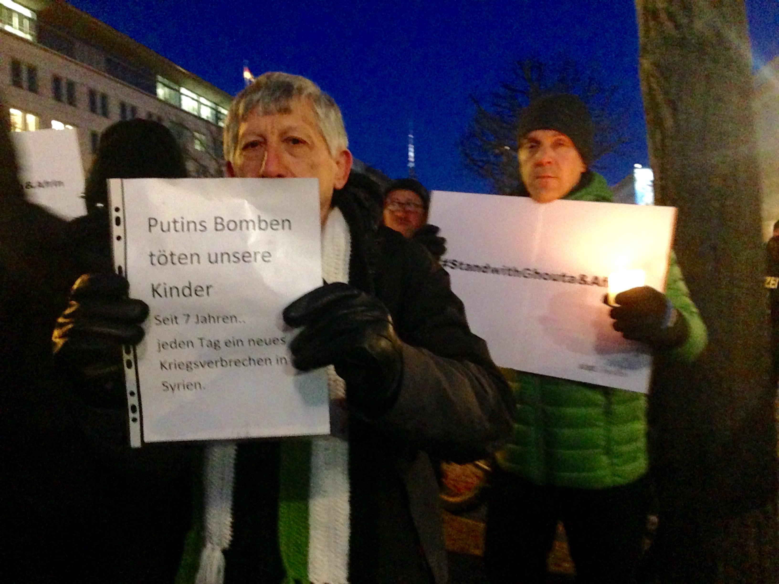 صورة من الاحتجاجات، التقطتها الكاتب.