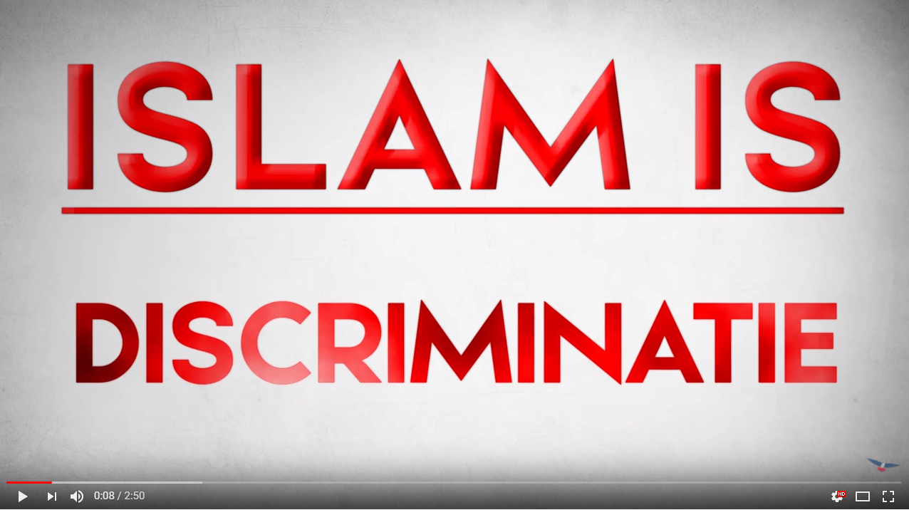 Screenshot of anti-Islam video