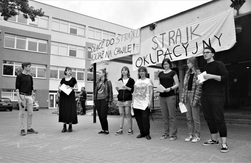Occupation strike of students in Poland.