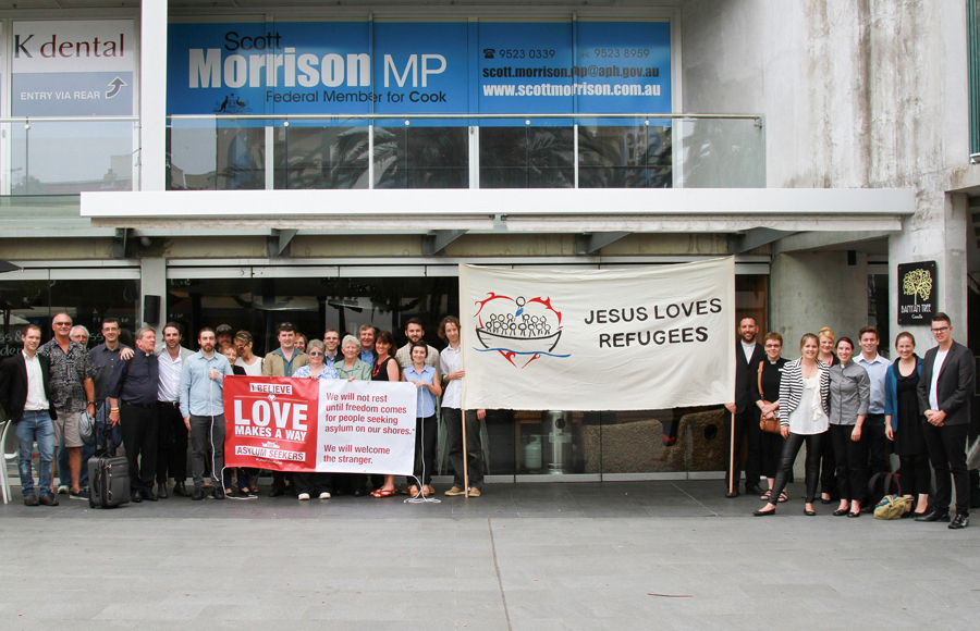 Sit-in prayer vigil at Scott Morrison's office 2014Love Makes a Way