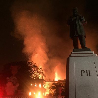 The museum on fire. Image by Felipe Milanez, used with permission.