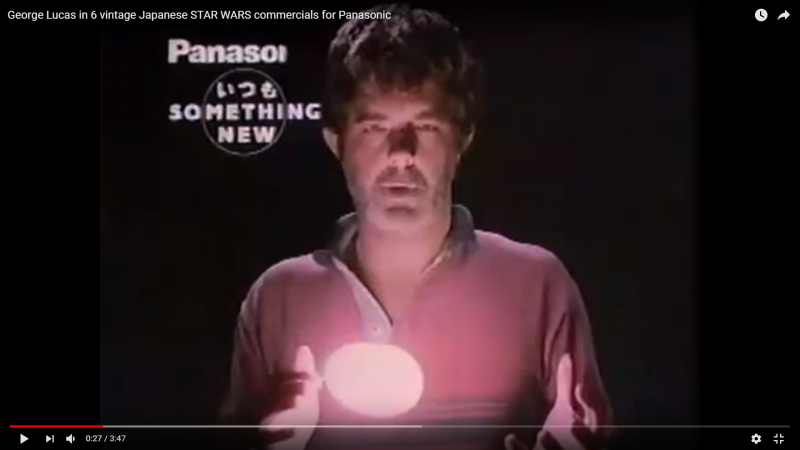 George Lucas in 6 vintage Japanese STAR WARS commercials for Panasonic