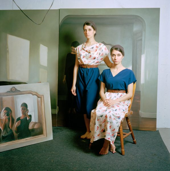 The artists Bahareh and Farzaneh Safarani. Photo by Justin Aversano, courtesy the Safarani sisters.