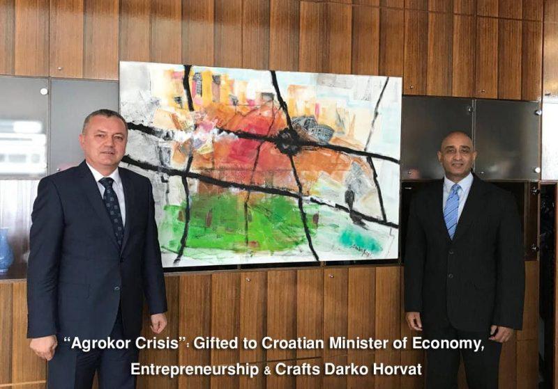 Agrokor, Darko Horvat, and Indian Ambassador Sandeep Kumar