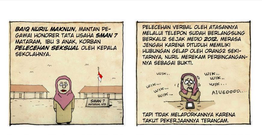 Professora indonésia é presa por documentar assédio